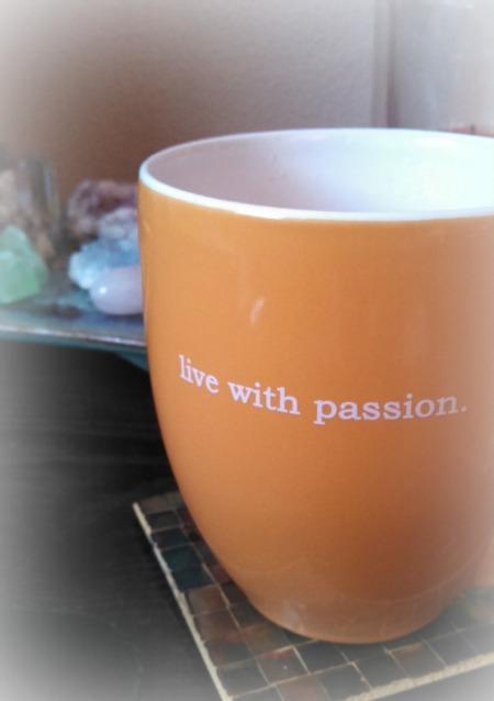 live with passion mug 1c